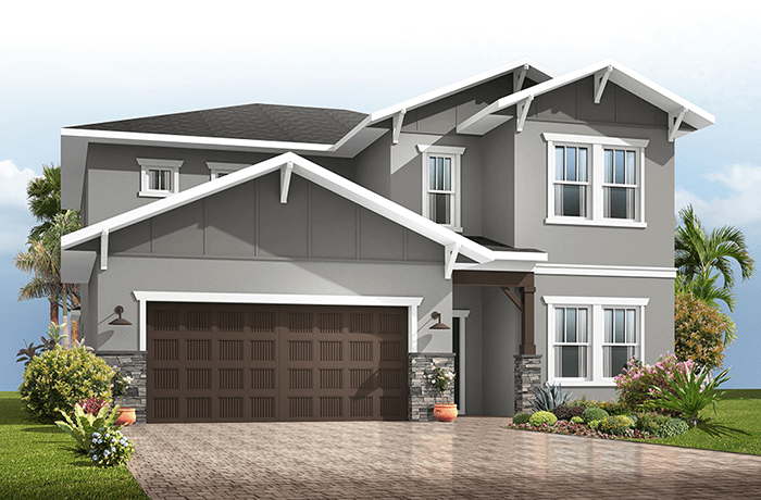 Winford - Craftsman Cottage Elevation - 3,132 sqft, 5 Bedroom, 3.5-4.5 Bathroom - Cardel Homes Tampa