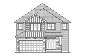 Bristol BS - Canadiana A1 Elevation - 2,646 sqft, 4 Bedroom, 2.5 Bathroom - Cardel Homes Ottawa