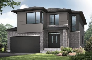 Bristol BS - Modern Urban A3 Elevation - 2,646 sqft, 4 Bedroom, 2.5 Bathroom - Cardel Homes Ottawa