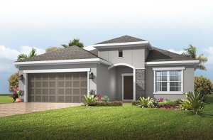 Brighton - Provincial Chateau Elevation - 2,010 sqft, 3 - 4 Bedroom, 2 Bathroom - Cardel Homes Tampa
