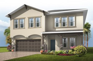 Newhaven - Craftsman Elevation - 2,550 sqft, 4 Bedroom, 2.5 Bathroom - Cardel Homes Tampa