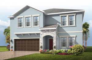 Newhaven - Provincial Chateau Elevation - 2,550 sqft, 4 Bedroom, 2.5 Bathroom - Cardel Homes Tampa