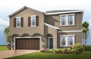 Newhaven - Traditional Cottage Elevation - 2,550 sqft, 4 Bedroom, 2.5 Bathroom - Cardel Homes Tampa