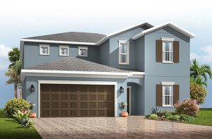 Winford - Traditional Cottage Elevation - 3,132 sqft, 5 Bedroom, 3.5-4.5 Bathroom - Cardel Homes Tampa