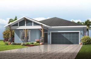 Northwood - Craftsman Elevation - 2,200 sqft, 3-4 Bedroom, 2-3 Bathroom - Cardel Homes Tampa