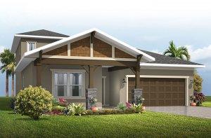Northwood - Craftsman with Option #4 Elevation - 2,200 sqft, 3-4 Bedroom, 2-3 Bathroom - Cardel Homes Tampa