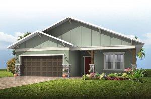 Southampton - Craftsman Elevation - 2,500 sqft, 4-5 Bedroom, 3 Bathroom - Cardel Homes Tampa