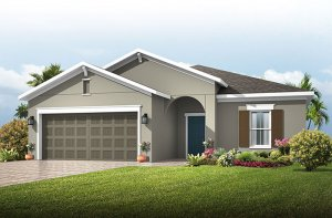 Southampton - Traditional Cottage Elevation - 2,500 sqft, 4-5 Bedroom, 3 Bathroom - Cardel Homes Tampa