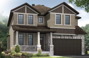 DURHAM-BS-PS - A1 Canadiana Elevation - 2,294 sqft, 4 Bedroom, 2.5 Bathroom - Cardel Homes Ottawa