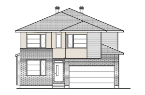 DURHAM-BS-PS - A3 Modern Elevation - 2,294 sqft, 4 Bedroom, 2.5 Bathroom - Cardel Homes Ottawa