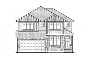 NICHOLS-BS-PS - A1 Canadiana Elevation - 2,456 sqft, 4 - 5 Bedroom, 2.5 - 3.5 Bathroom - Cardel Homes Ottawa