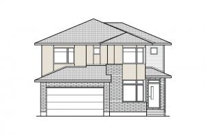 NICHOLS-BS-PS - A3 Modern Elevation - 2,456 sqft, 4 - 5 Bedroom, 2.5 - 3.5 Bathroom - Cardel Homes Ottawa