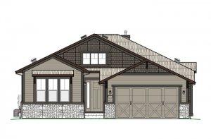 DVR-RR-AUGUSTA-Elevation-A-Craftsmen-700X460 Elevation - 1,944 sqft, 2 Bedroom, 2.5 Bathroom - Cardel Homes Denver