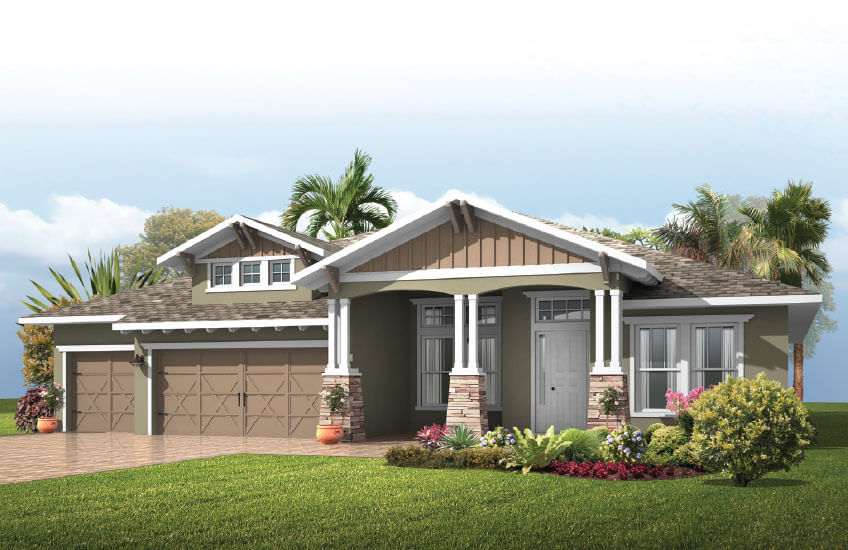 New Tampa Single Family Home Quick Possession St. Lucia in Enclave at Lake Padgett, located at 4006 COVE LAKE PLACE, <br />