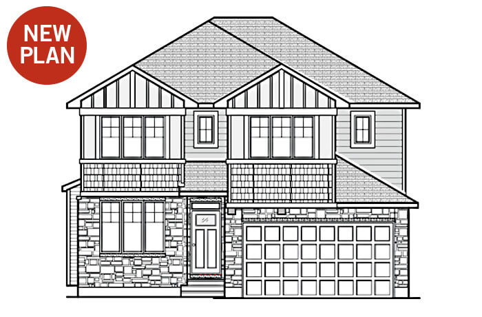 New home in LINCOLN in Blackstone in Kanata South, 1,944 SQFT, 3 Bedroom, 2.5 Bath, Starting at 548,000 - Cardel Homes Ottawa