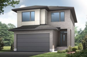 Cole - Modern Urban A3 Elevation - 2,051 sqft, 3 - 4 Bedroom, 2.5 Bathroom - Cardel Homes Ottawa