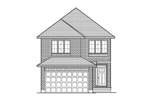 Cole - Traditional A2 Elevation - 2,051 sqft, 3 - 4 Bedroom, 2.5 Bathroom - Cardel Homes Ottawa