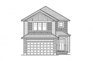Auden - Canadiana A1 Elevation - 1,964 sqft, 3 Bedroom, 2.5 Bathroom - Cardel Homes Ottawa
