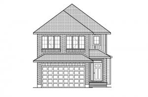 Auden - Traditional A2 Elevation - 1,964 sqft, 3 Bedroom, 2.5 Bathroom - Cardel Homes Ottawa
