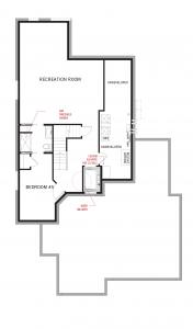 Clare's House Basement Floor Plan