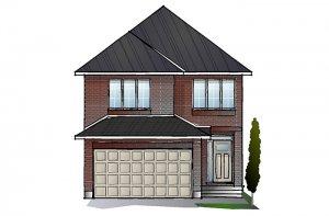 EW-COLE A2 TRADITIONAL Elevation - 2,051 sqft, 3 - 4 Bedroom, 2.5 Bathroom - Cardel Homes Ottawa