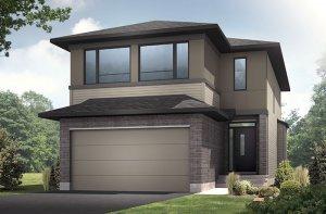 Auden - Modern A3 Elevation - 1,964 sqft, 3 - 4 Bedroom, 2.5 Bathroom - Cardel Homes Ottawa
