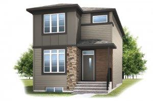 Mensa - F2 Elevation - 1,538 sqft, 3 Bedroom, 2.5 Bathroom - Cardel Homes Calgary
