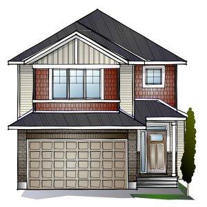 AUDEN - PS - Canadiana A1 Elevation - 1,964 sqft, 3 - 4 Bedroom, 2.5 Bathroom - Cardel Homes Ottawa