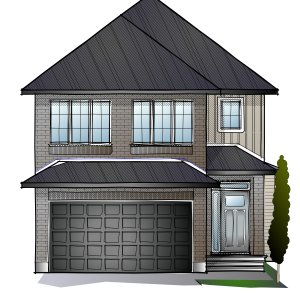 AUDEN - PS - Traditional A2 Elevation - 1,964 sqft, 3 - 4 Bedroom, 2.5 Bathroom - Cardel Homes Ottawa