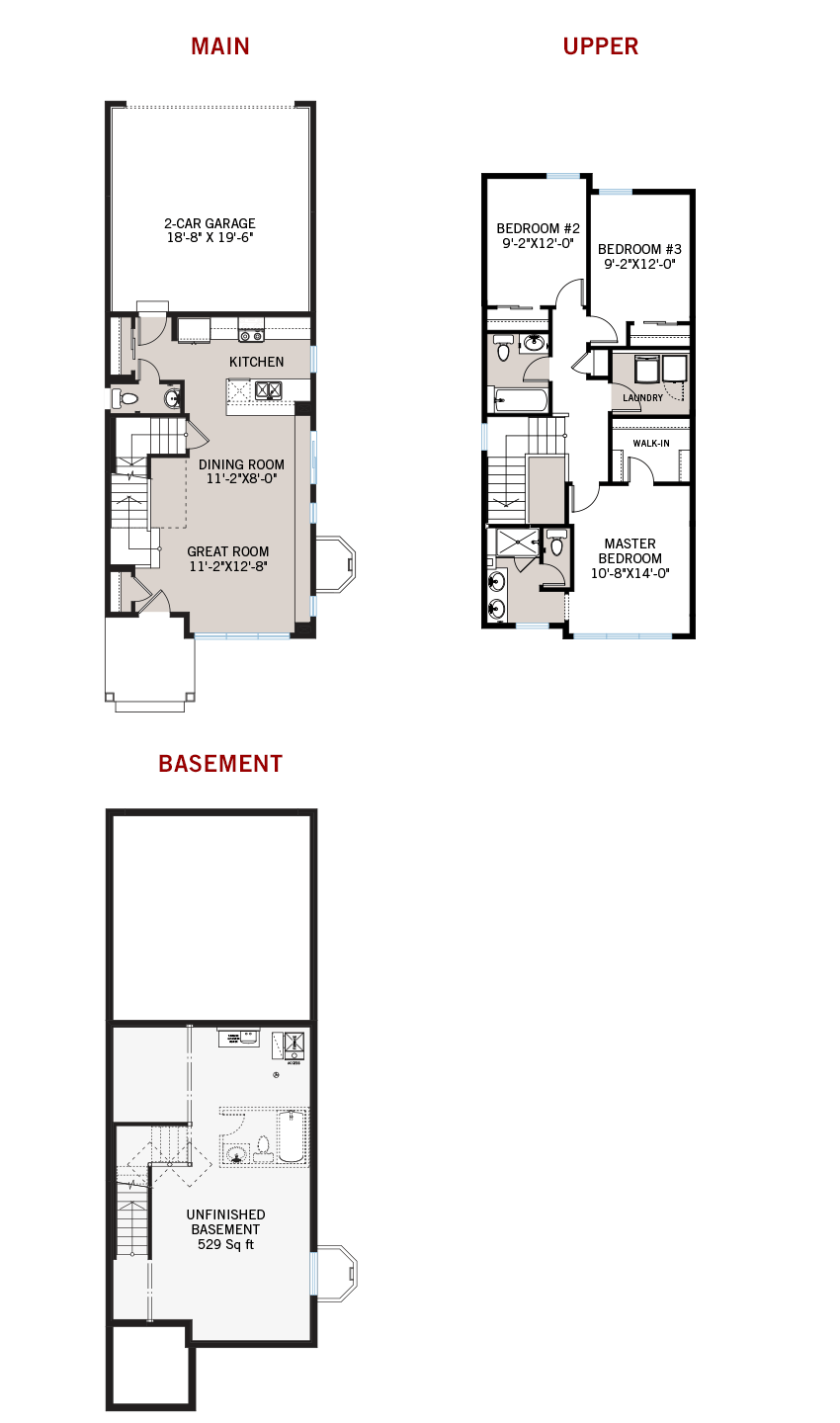 New Denver Single Family Home Quick Possession Colette Floorplan in Westminster Station, located at 6878 Clay Street Built By Cardel Homes Denver