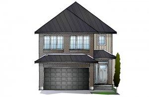 EW-AIDEN A2 TRADITIONAL Elevation - 1,964 sqft, 3 - 4 Bedroom, 2.5 Bathroom - Cardel Homes Ottawa