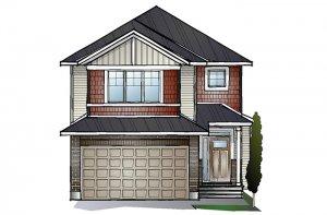 EW-AUDEN A1 CANADIANA Elevation - 1,964 sqft, 3 - 4 Bedroom, 2.5 Bathroom - Cardel Homes Ottawa