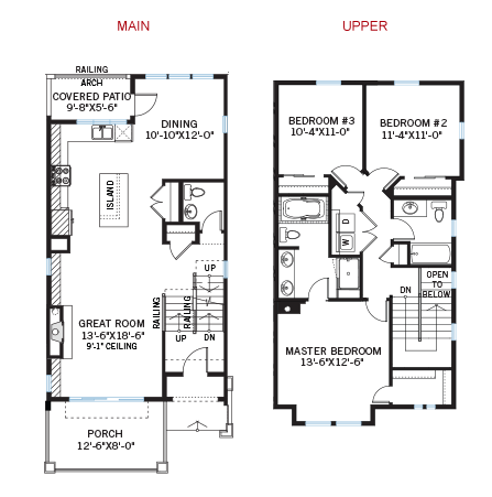 New Denver Towns Home Quick Possession Milan Floorplan in Solterra, located at 15646 W Wesley Ave<br />