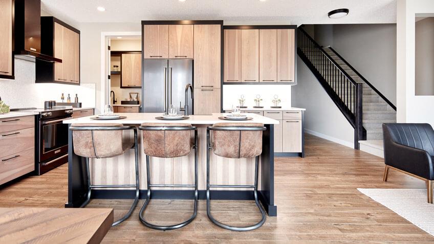 cardel-homes-calgary-cornerbrook-front-garage-interior