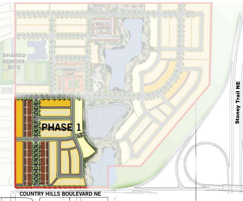Cardel Homes Calgary Cornerbrook Phase 1 Community Map