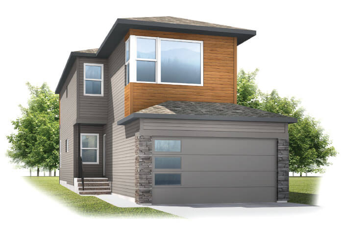 Sereno 2 - Elevation F2 Elevation - 2,048 sqft, 3 Bedroom, 2.5 Bathroom - Cardel Homes Calgary