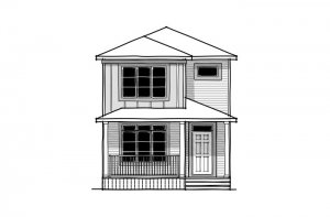 Alder 2 - CB-Prairie C2 Elevation - 1,408 sqft, 3 Bedroom, 2.5 Bathroom - Cardel Homes Calgary