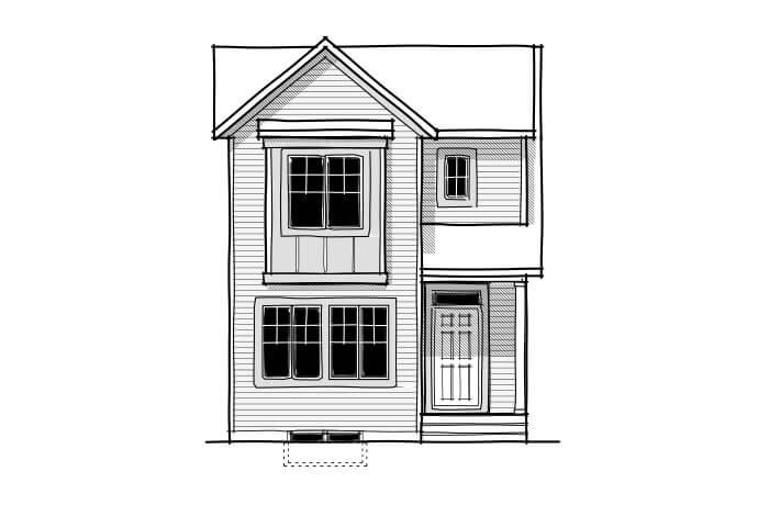 Alder 2 - CB-Farmhouse C3 Elevation - 1,408 sqft, 3 Bedroom, 2.5 Bathroom - Cardel Homes Calgary