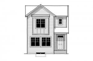 Alder 3 - CB-Farmhouse C3 Elevation - 1,553 sqft, 3 Bedroom, 2.5 Bathroom - Cardel Homes Calgary