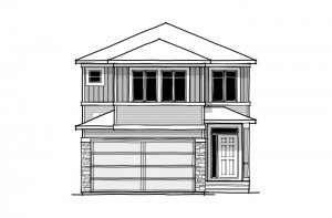 Alloy - CB-Prairie C2 Elevation - 2,366 sqft, 3 Bedroom, 2.5 Bathroom - Cardel Homes Calgary