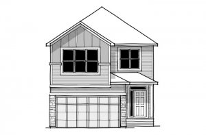 Aster - CB-Farmhouse C3 Elevation - 2,600 sqft, 4 Bedroom, 2.5 Bathroom - Cardel Homes Calgary