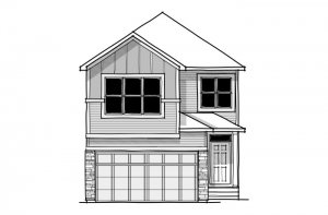 Aster 2 - CB-Farmhouse C3 Elevation - 2,468 sqft, 4 Bedroom, 2.5 Bathroom - Cardel Homes Calgary