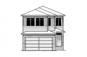 Aster 2 - CB-Prairie C2 Elevation - 2,468 sqft, 4 Bedroom, 2.5 Bathroom - Cardel Homes Calgary
