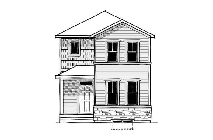 Mensa 2 - CB-Craftsman C1 Elevation - 1,704 sqft, 3 Bedroom, 2.5 Bathroom - Cardel Homes Calgary