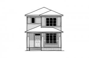 Mensa 2 - CB-Prairie C2 Elevation - 1,704 sqft, 3 Bedroom, 2.5 Bathroom - Cardel Homes Calgary