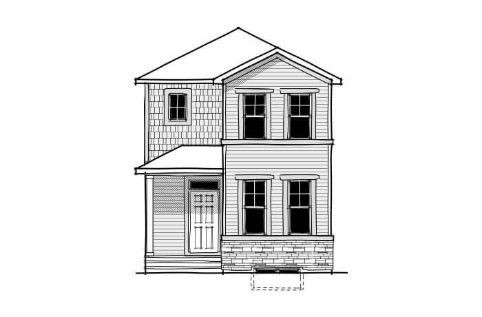 Mensa - CB-Craftsman C1 Elevation - 1,538 sqft, 3 Bedroom, 2.5 Bathroom - Cardel Homes Calgary