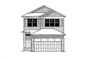 Sabal - CB-Craftsman C1 Elevation - 2,313 sqft, 4 Bedroom, 2.5 Bathroom - Cardel Homes Calgary