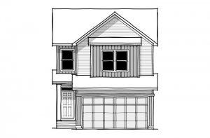 Sabal - CB-Farmhouse C3 Elevation - 2,313 sqft, 4 Bedroom, 2.5 Bathroom - Cardel Homes Calgary