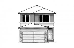 Sabal 2 - CB-Prairie C2 Elevation - 2,313 sqft, 4 Bedroom, 2.5 Bathroom - Cardel Homes Calgary
