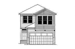 Sabal 3 - CB-Craftsman C1 Elevation - 2,313 sqft, 4 Bedroom, 2.5 Bathroom - Cardel Homes Calgary